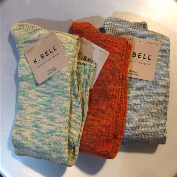 K. Bell Accessories - Bundle 3pcs Knee High Socks